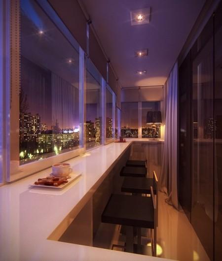 Poze Balcon - Balcon inchis amenajat modern