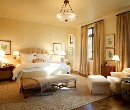 Poze Dormitor - Culorile inspirate din natura intr-un dormitor in stil clasic