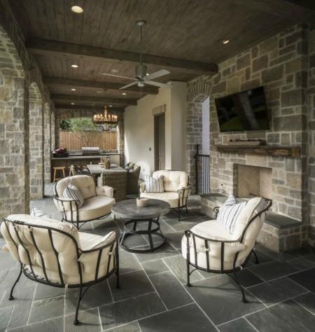 Poze Terasa - Amenajare terasa cu piatra naturala