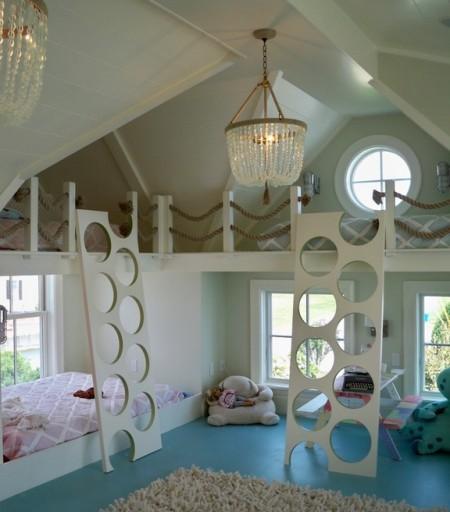 Poze Copii si tineret - Un design fabulos pentru o camera impartita de mai multi copii