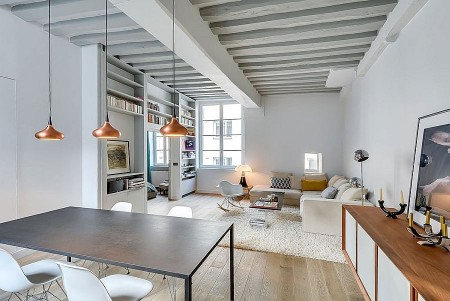 Poze Living - Functionalitate si design modern intr-un mic apartament parisian