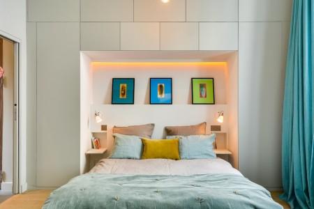 Poze Dormitor - Dormitor modern intr-un mic apartament parizian