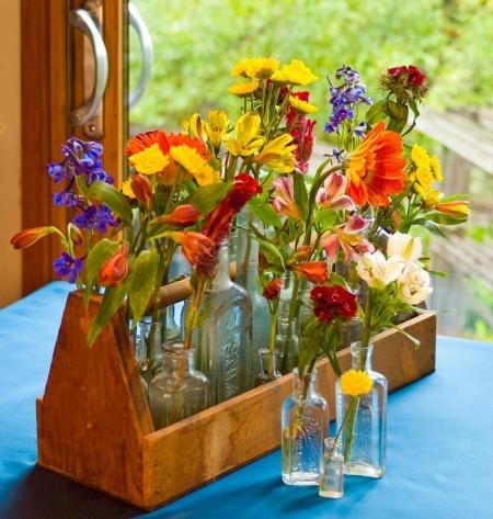 Poze Gradina de flori - Un aranjament de flori vintage