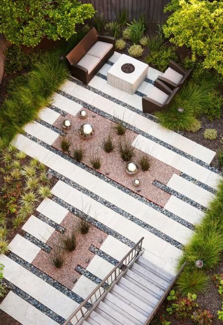 Poze Gradina de flori - Gradina si terasa modene