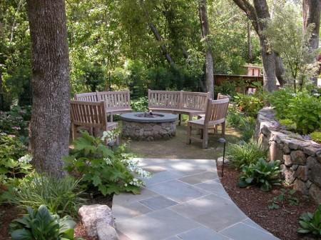Poze Gradina de flori - Zona de relaxare in gradina