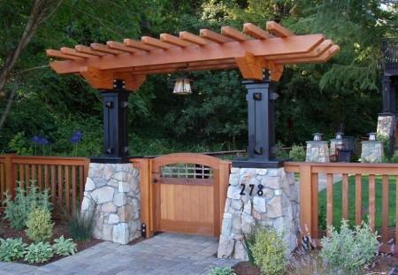 Poze Garduri si porti - Gard si poarta din lemn