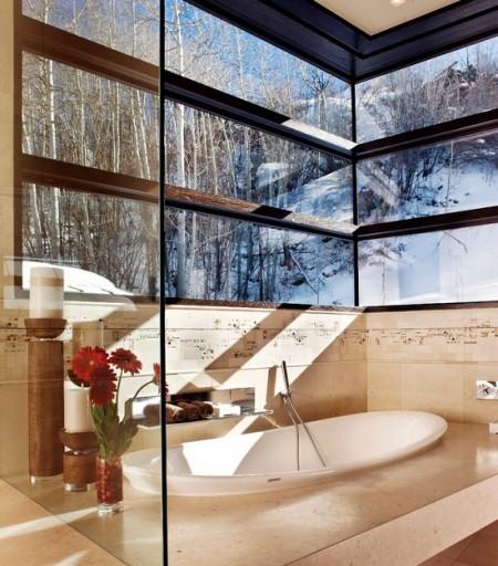 Poze Baie - Baie moderna cu spatii vitrate generoase