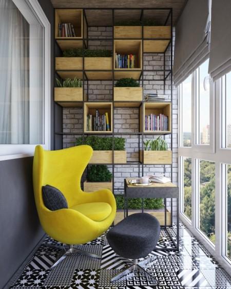 Poze Balcon - Spatiu modern de relaxare amenajat pe balcon