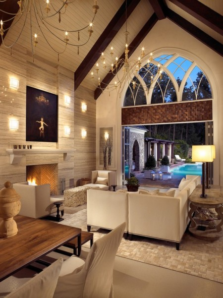 Poze Living - Living modern, cu elemente arhitecturale gotice