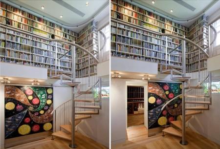 Poze Birou si biblioteca - O idee pentru pasionatii de carti si vinuri!