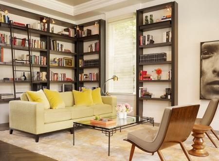 Poze Birou si biblioteca - Biblioteca moderna, plina de eleganta si rafinament