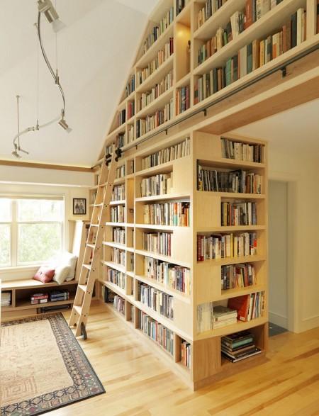 Poze Birou si biblioteca - Mai mult spatiu pentru carti in biblioteca de acasa