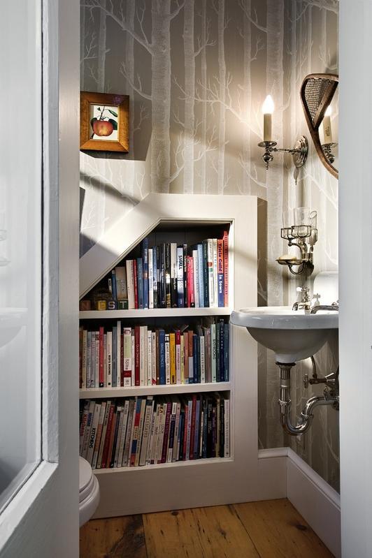 Imagini amenajare baie - Biblioteca din baie