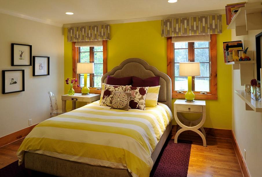 Culori vibrante, potrivite pentru camera unei tinere