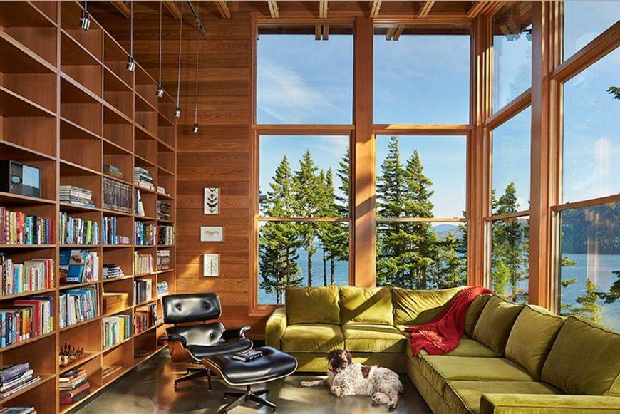 Bbiblioteca casa vacanta moderna