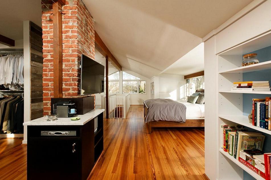 Dormitor matrimonial si garderoba la mansarda