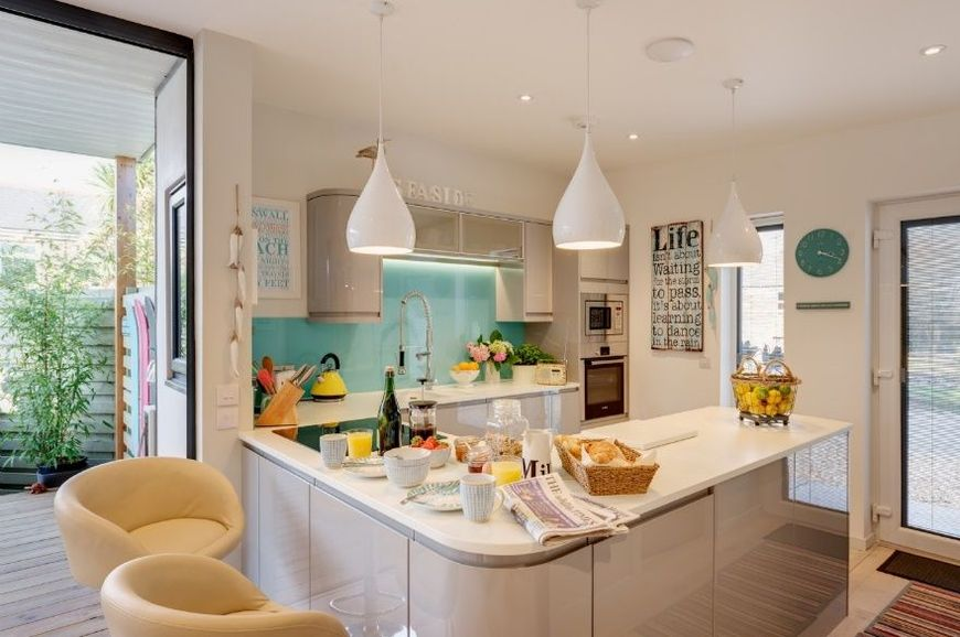 Bucatarie cu design interior modern