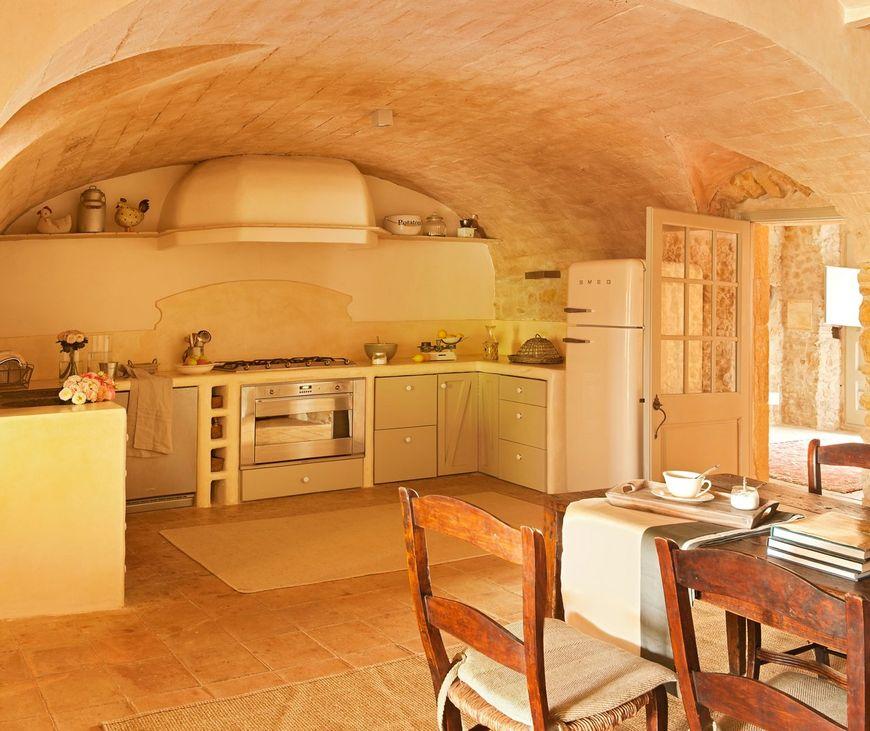 Bucataria unei casa in stil mediteranean