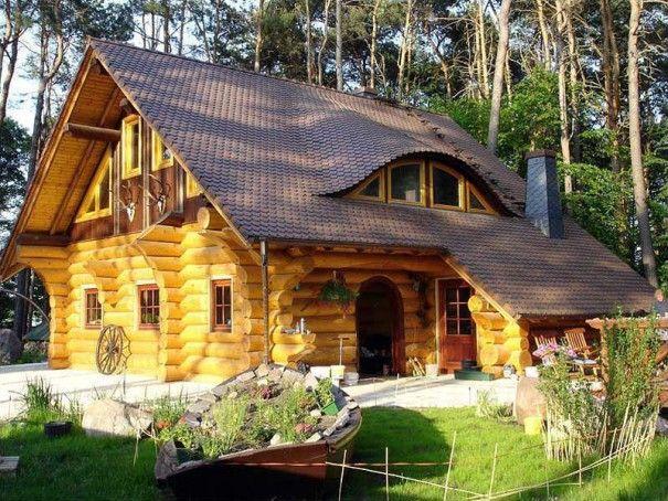 Cabana lemn rotund