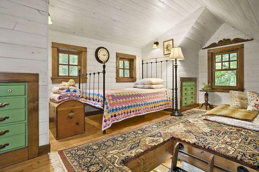 Dormitor cabane din lemn