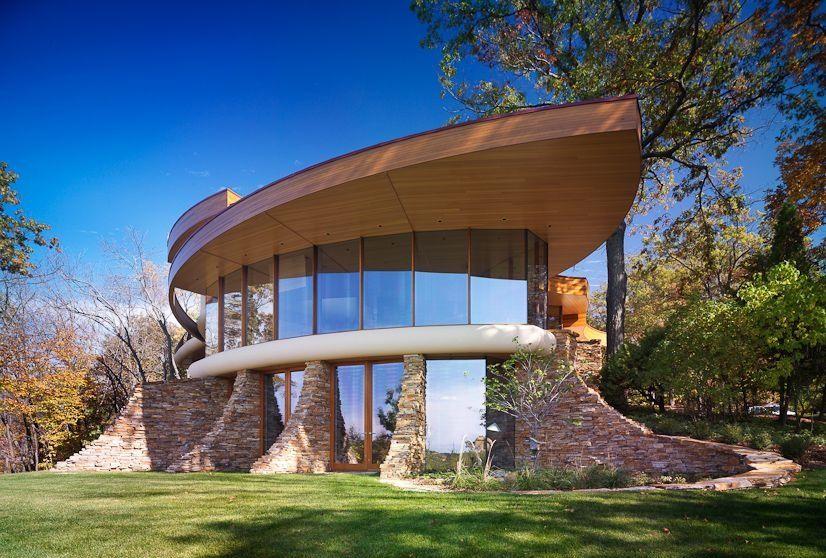 Casa cu arhitectura moderna