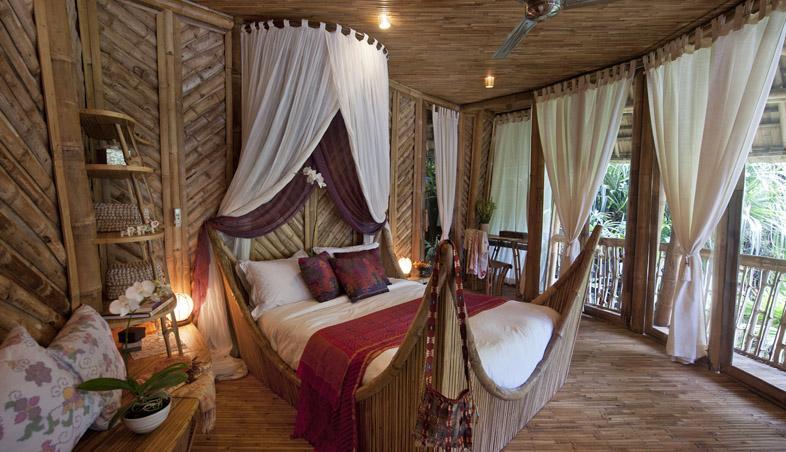 dormitor din bambus, Satul Verde, Bali