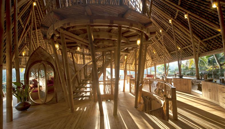 Structura de rezistenta, acoperis, compartimentari din lemn de bambus