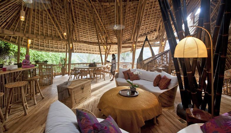 Zona de zi din lemn de bambus