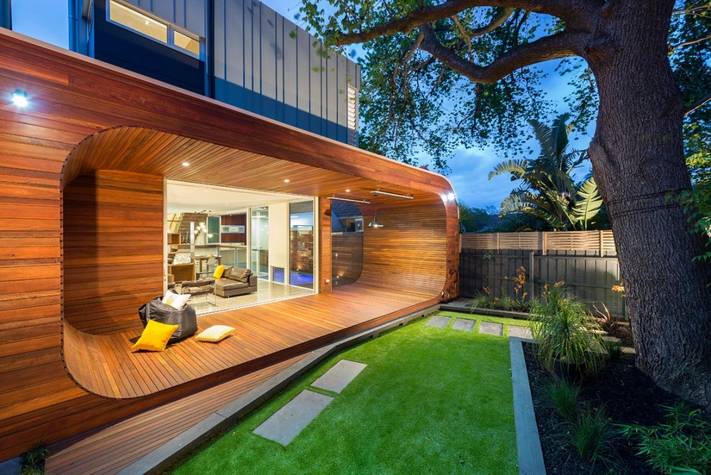 Terasa ultramoderna din lemn