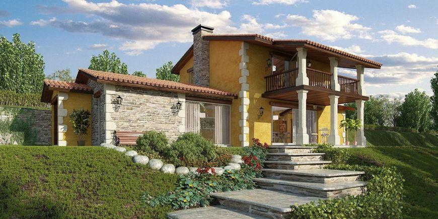 O casa cu etaj proiectata pentru un teren in panta for Case cu terase
