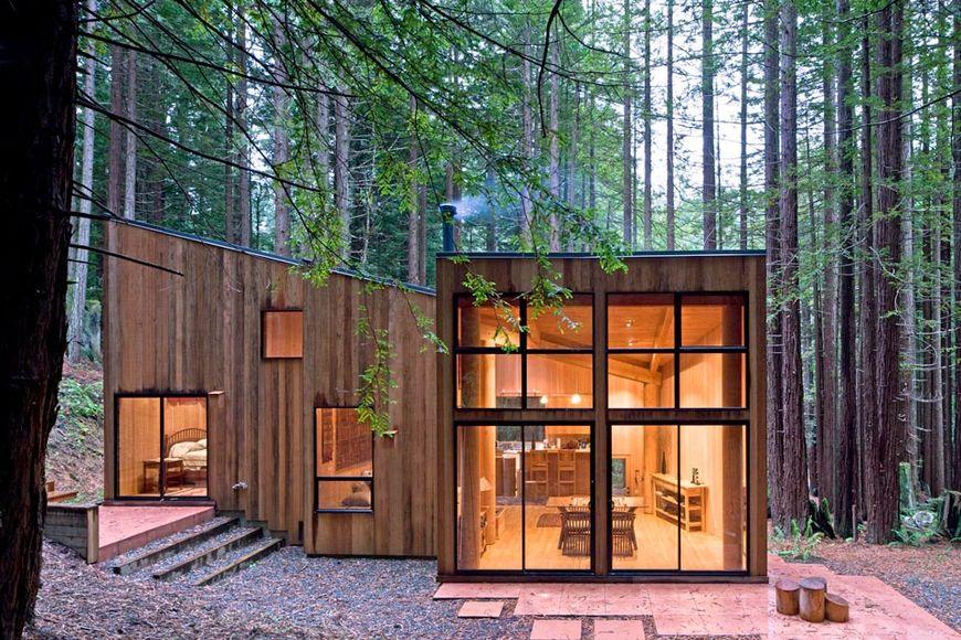 Casa moderna din lemn