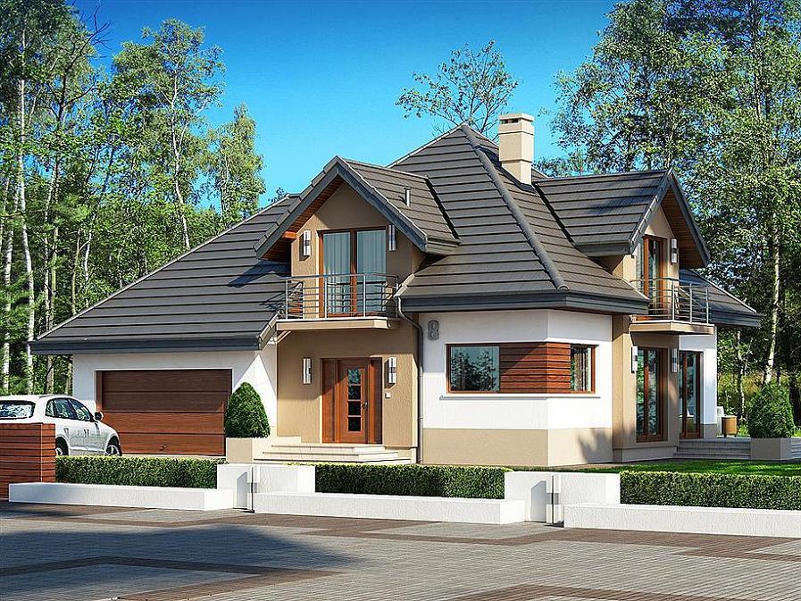 Casa eleganta, cu mansarda, 3 dormitoare, birou si garaj pentru 2 masini
