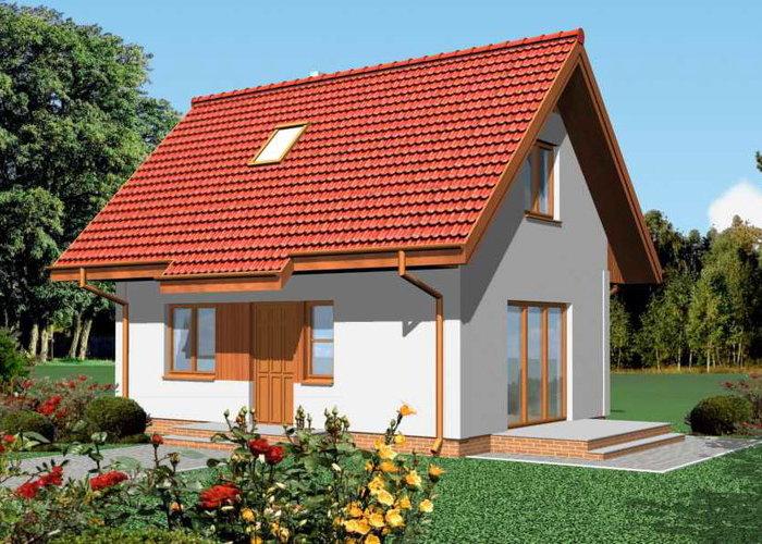 Casa mica si ieftina, cu mansarda, cu doua dormitoare
