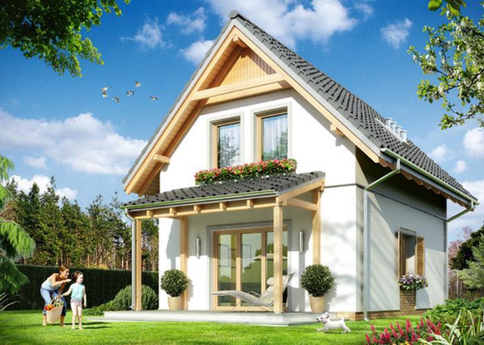 Casa mica si ieftina cu mansarda cu trei dormitoare si for Case cu mansarda mici