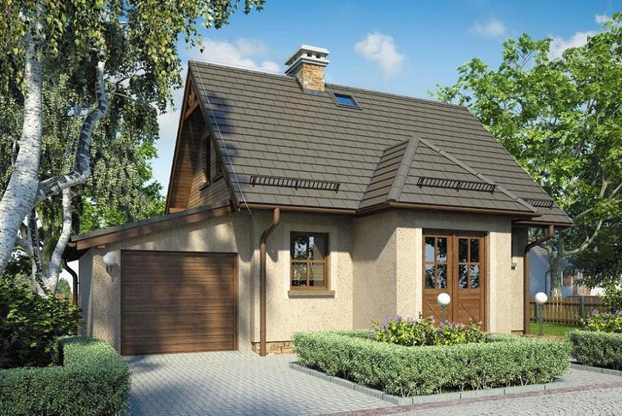 Casa mica P+M cu garaj si 2 dormitoare la mansarda