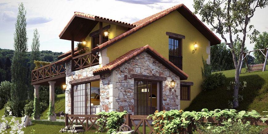 Casa construita pe un teren in panta