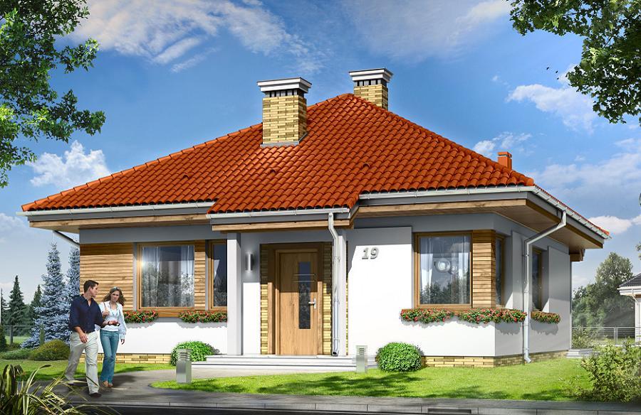 Casa mica, familiala, fara etaj, cu doua dormitoare