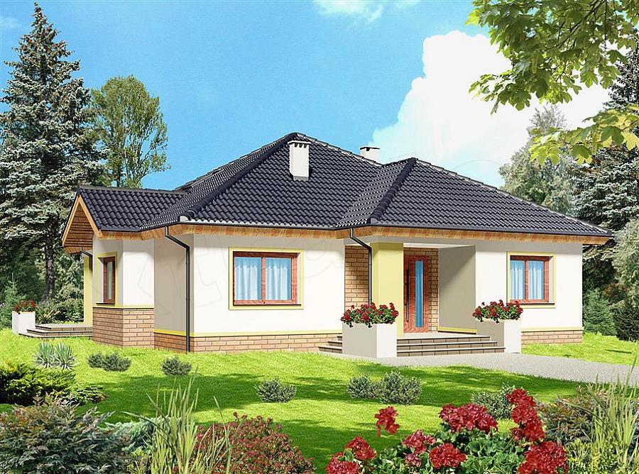Casa cu trei camere pe un nivel cu dormitoare cu dresing for Imagini case moderne