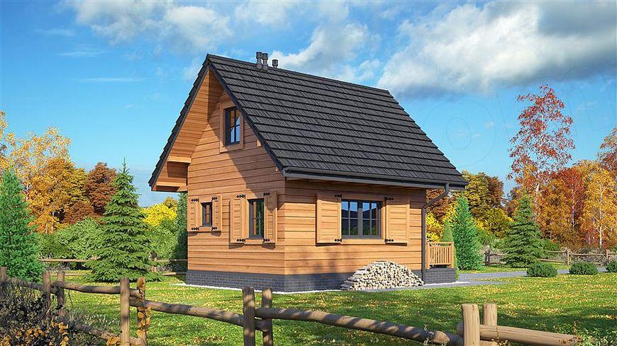 Obloanele din lemn cu balamale rustice adauga mai mult farmec acestei case de vacanta din lemn