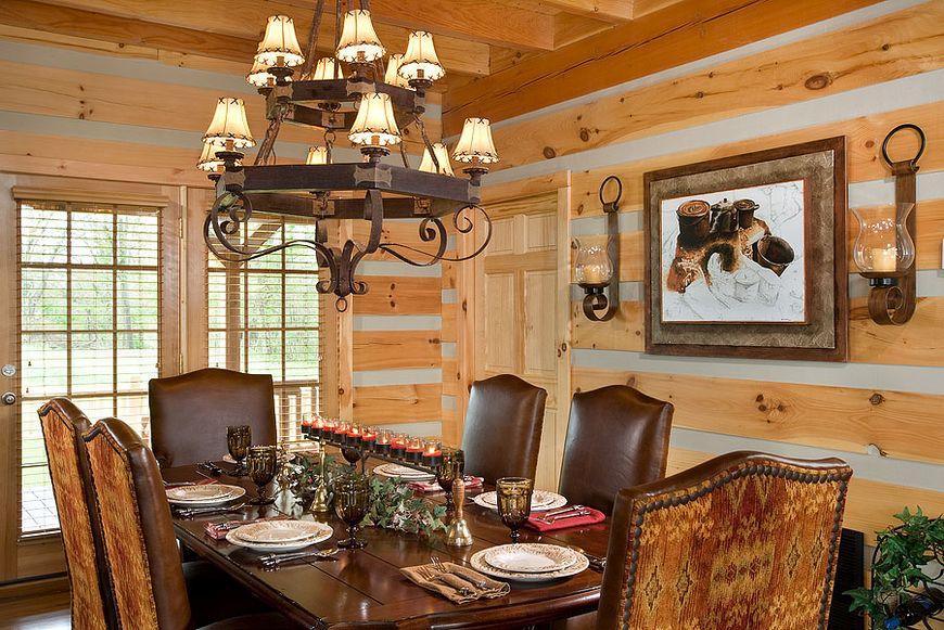 Sufrageria imbina stilul clasic cu cel rustic