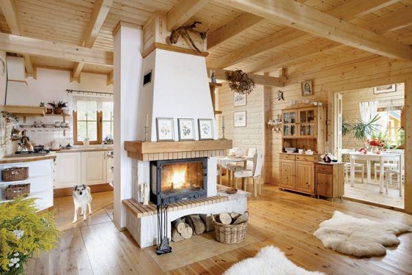 Semineu casa din lemn