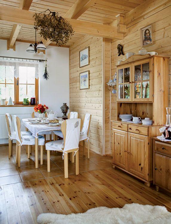 Sufragerie casa din lemn