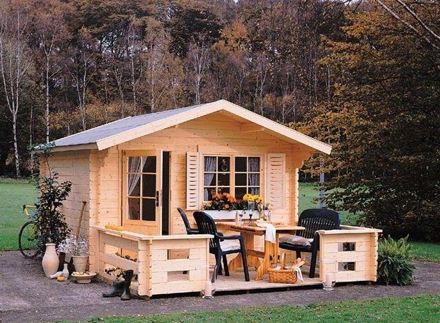 Casuta de gradina din lemn natur