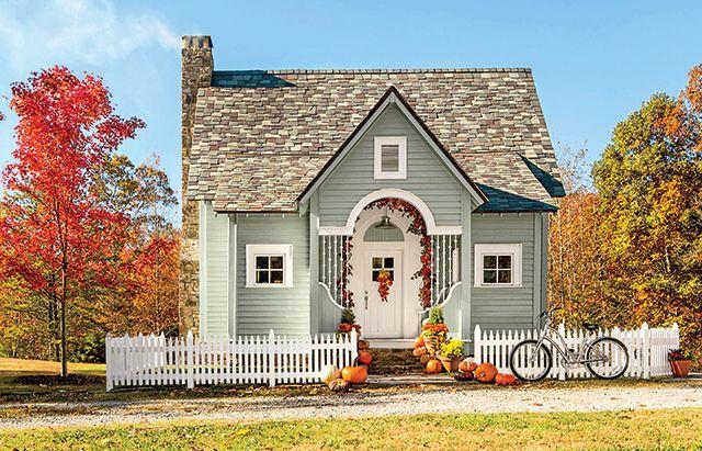 Fatada casa din lemn