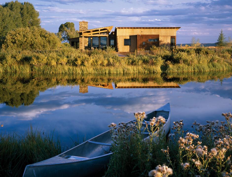 Imaginea idilica a unei case moderne din lemn for Imagini case moderne