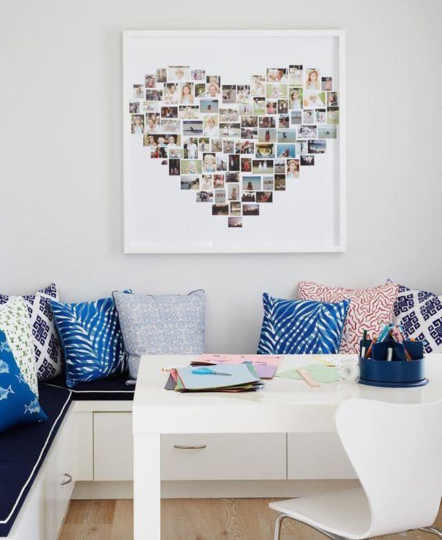 Decorarea unui perete cu un colaj cu fotografii