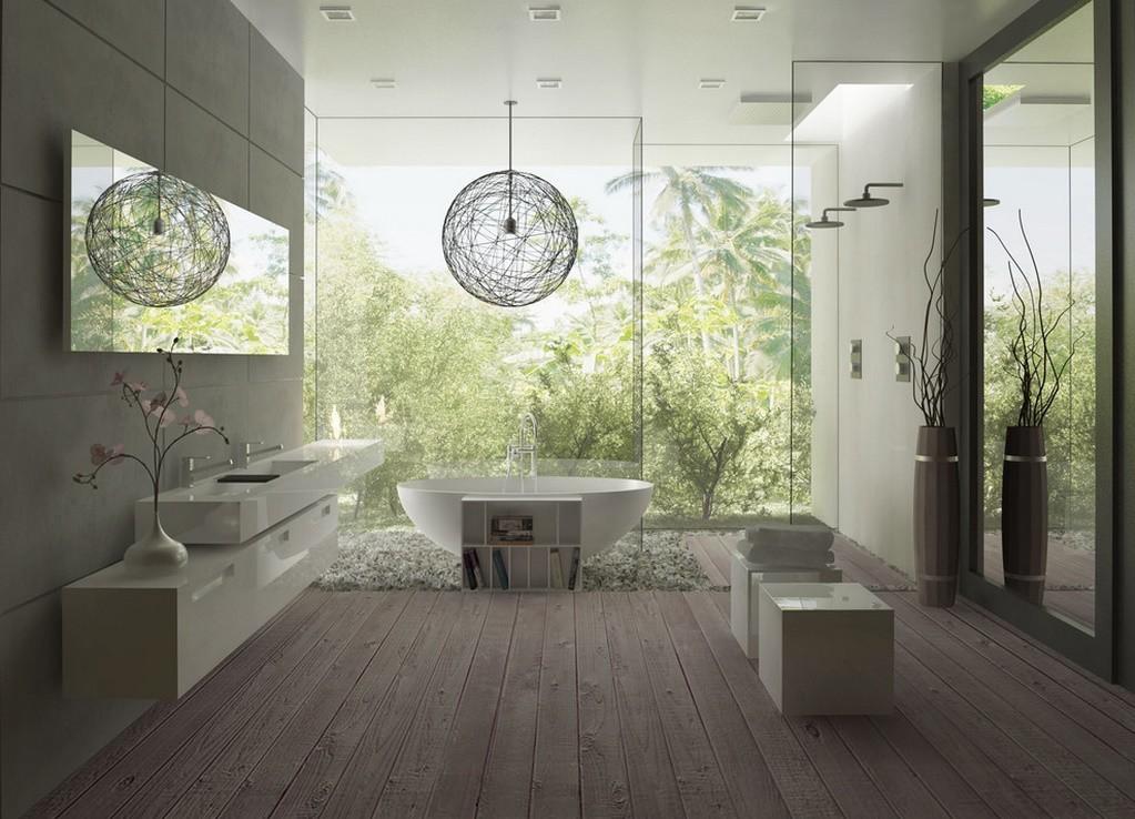 Design interior baie moderna lux