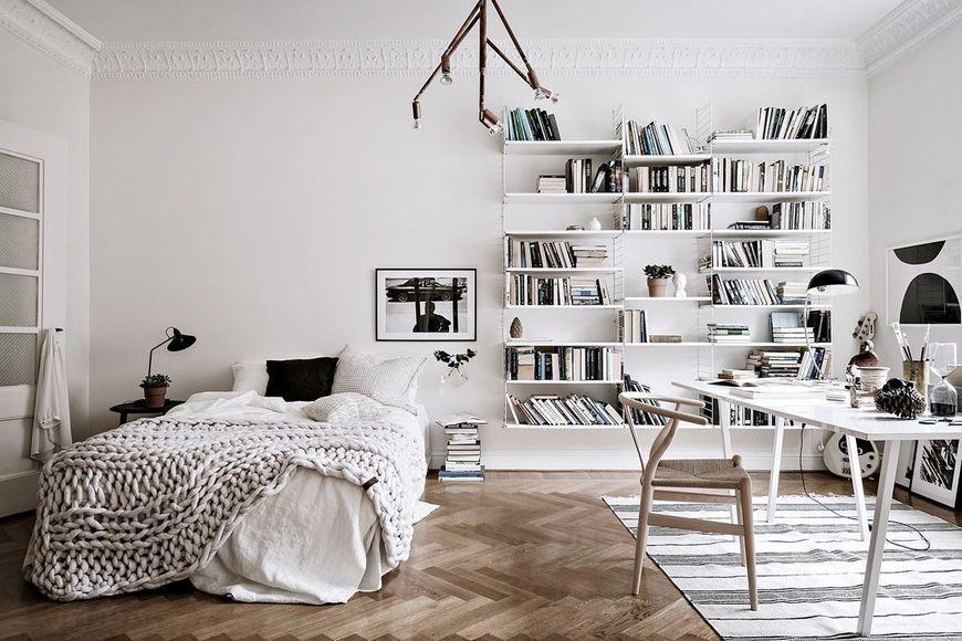 Dormitor decor scandinav