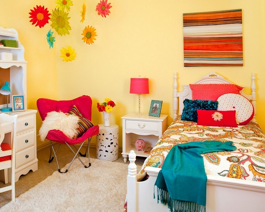 Culori vesele pentru camera fetitei