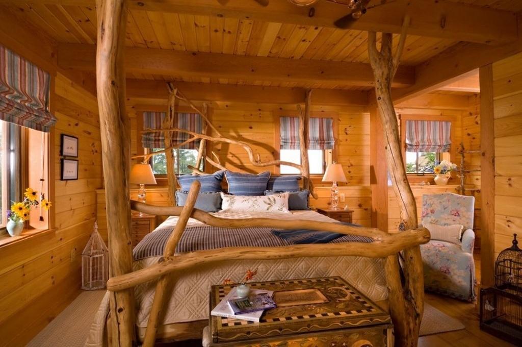 Dormitorul rustic